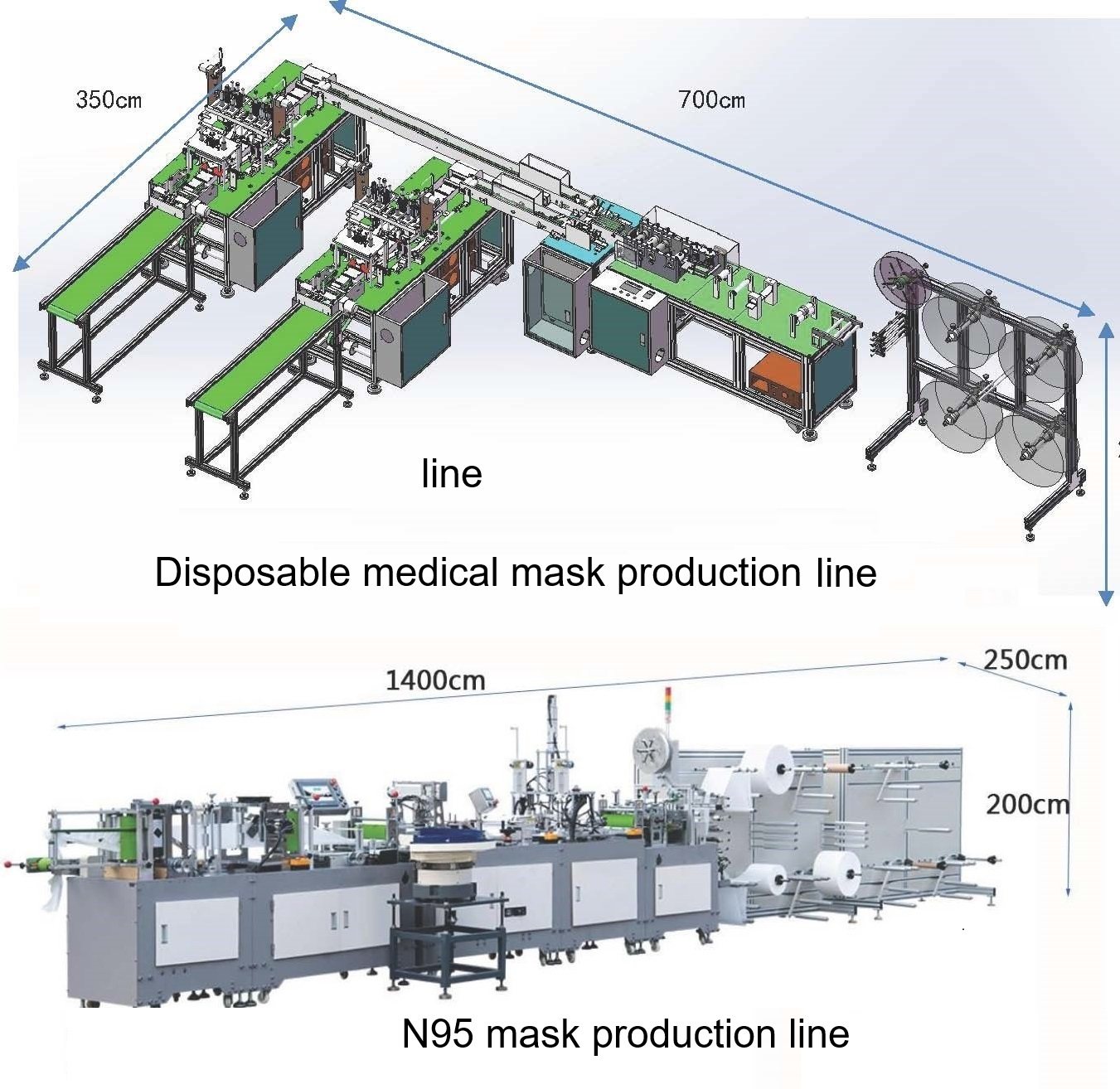 N95 and 3 Ply Disposable Mask Making Machine