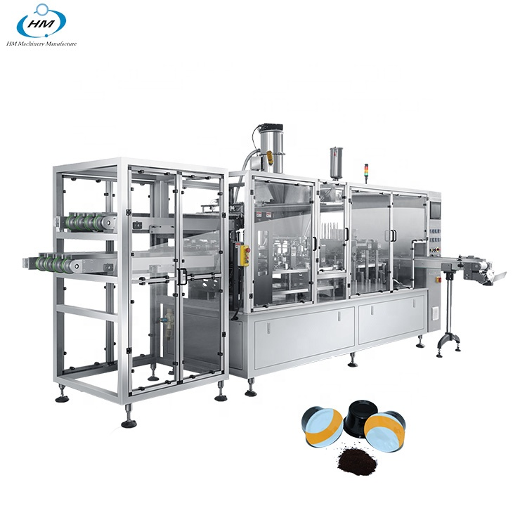 2 lines nespresso pods filling and making machine from factory for tea/milk/powder