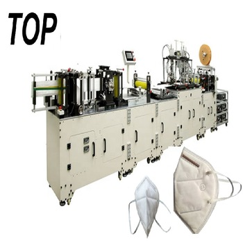 Automated ffp3 Folded Respirator 3D Dust Mask Machine with Auto Packing Function line